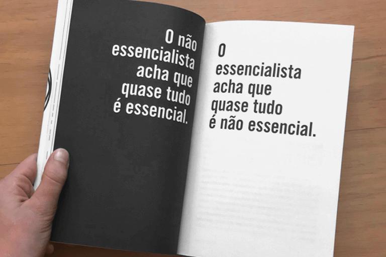 Imagem do livro Essencialismo - a disciplinada busca por menos.