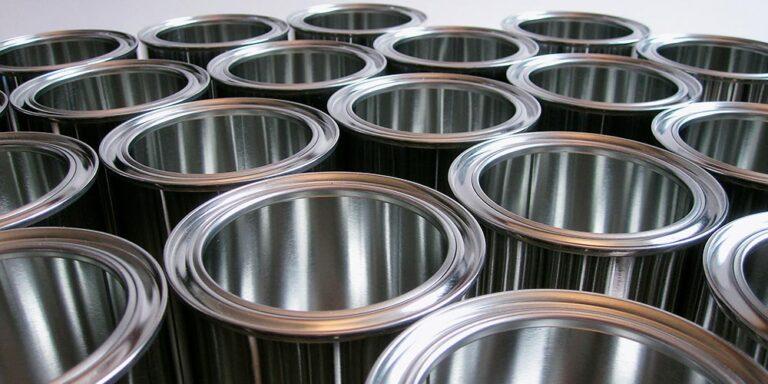 latas de aço